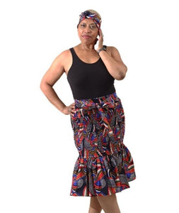 African Print Stretch Mermaid Skirts (Pre-Order)
