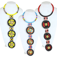 Load image into Gallery viewer, Maasai Triple Pendant Necklace (Pre-Order)