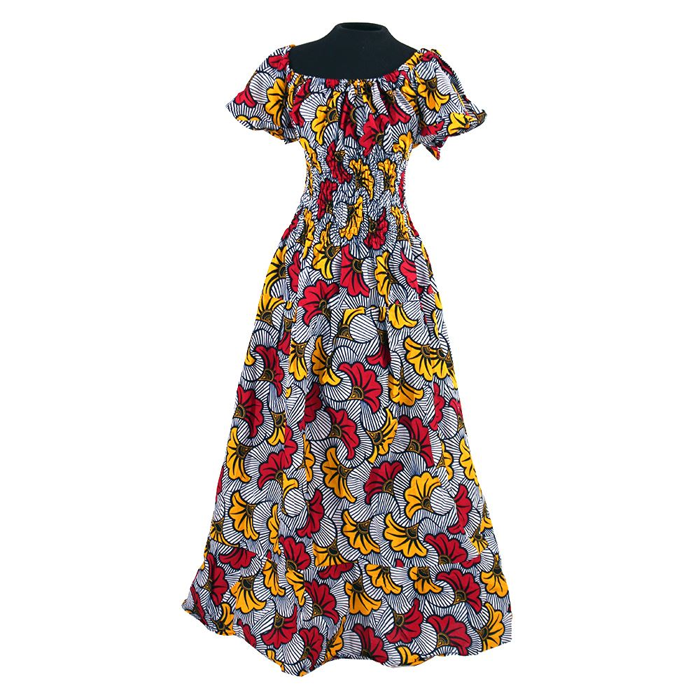 Amara African Flower Princess Dress (Pre-Order)