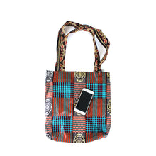 Load image into Gallery viewer, 'Native Brown' Ankara Print Tote Bag