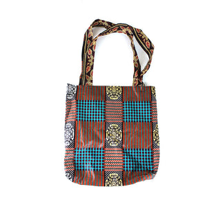 'Native Brown' Ankara Print Tote Bag