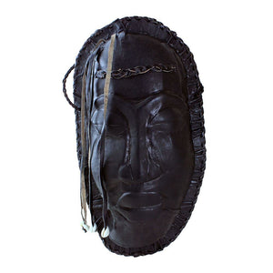 Black Mask Leather Purse