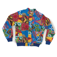 Load image into Gallery viewer, Unisex Ankara Patch Bomber Jacket