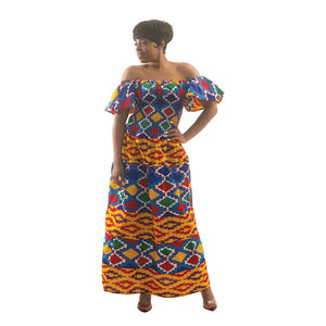 Bold Kente Amara Princess Dress