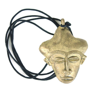 Ghanaian Mask Brass Necklace