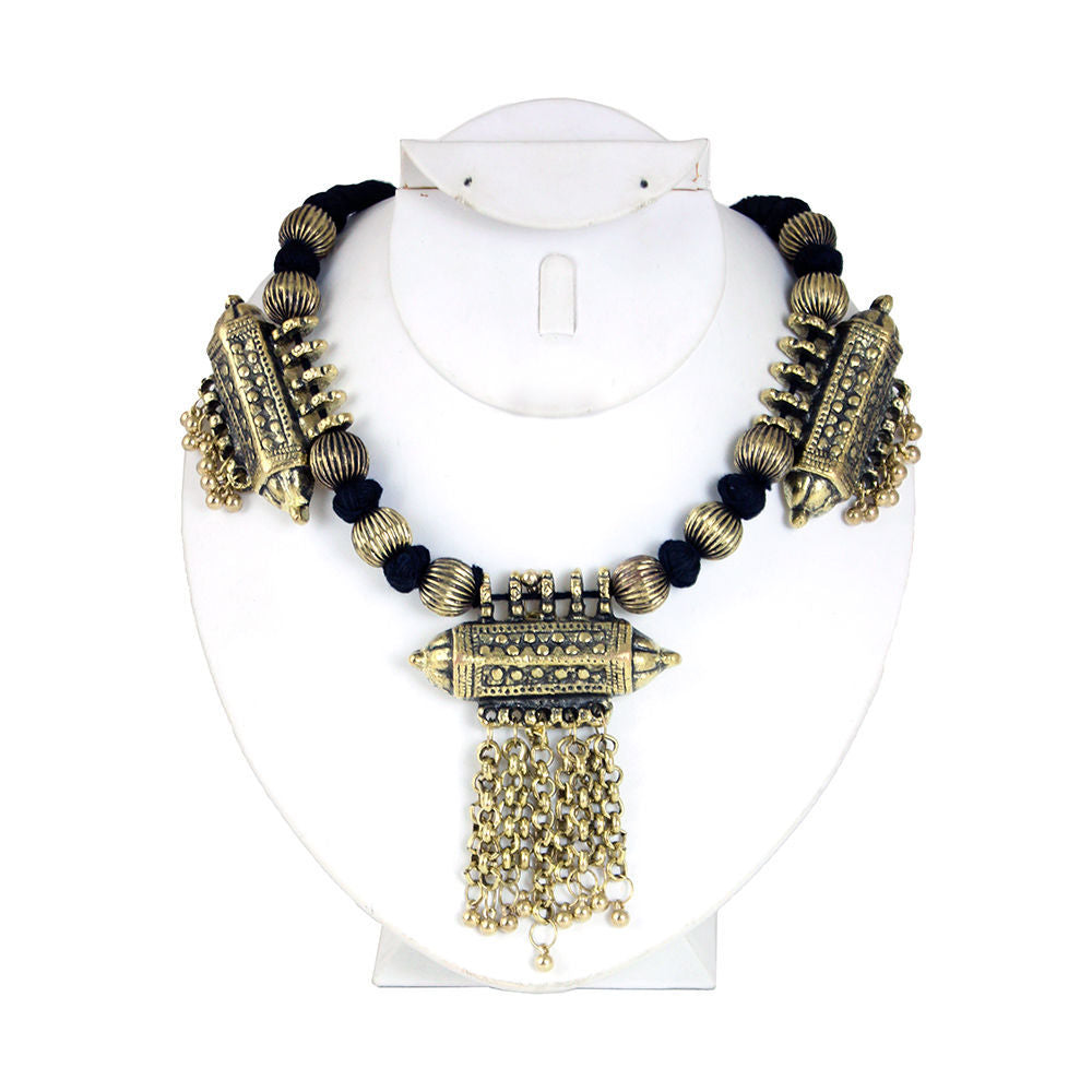 Adora Adjustable Brass Neckpiece