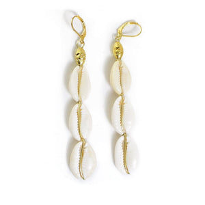 Cowry Shell Drop Earrings