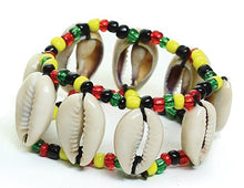 Load image into Gallery viewer, Cowry Shell Bead Bracelet