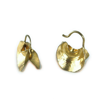 Fulani Gold Crescent Moon Earrings
