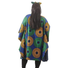 Load image into Gallery viewer, Denim Lined Ankara Poncho (Pre- Order)