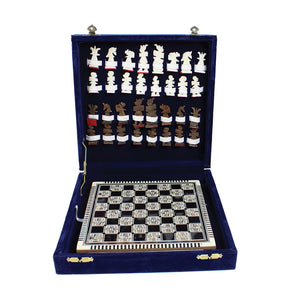 Egyptian 'Mother of Pearl' Deluxe Chess Set (Pre-Order)