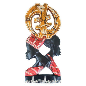 Gye Nyame Couple Wall Sculpture (Pre-Order)