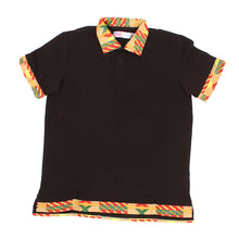 Load image into Gallery viewer, Men's Kente Print Trim Polo Shirt