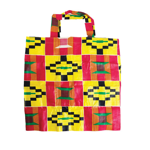 Strawberry Lemonade Kente Tote Bag