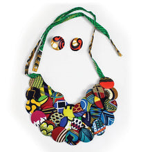 Load image into Gallery viewer, Ankara (Kitenge) Button Necklace Sets (Pre-Order)