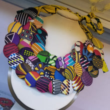 Load image into Gallery viewer, Ankara (Kitenge) Button Necklace Sets