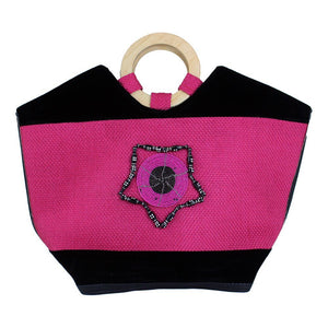 Pre-Order: Hot Pink Leather Kenyan Handbag