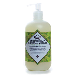 Nubian Heritage: Indian Hemp & Haitian Veviter Liquid Hand Soap (12.3oz)