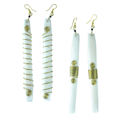 'Milk & Honey' Bone Earrings