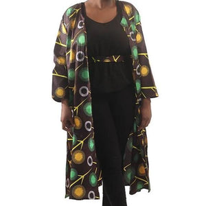 'Dandelion' Long-Sleeve Open Kaftan