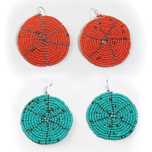 Round Maasai Bead Earrings
