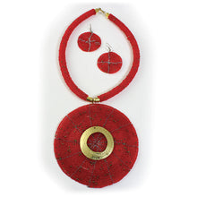 Load image into Gallery viewer, Maasai XL Choker Set - Red (Pre-Order)