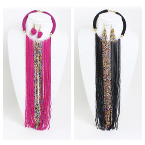 Maasai Fringe Necklace Sets (Pre-Order)