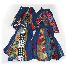 Load image into Gallery viewer, Denim Ankara Patch Maxi Skirt