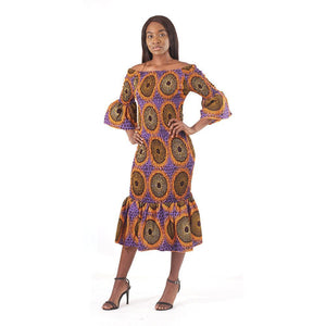 Onyinye Elastic Dress - Short