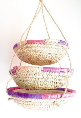 Handwoven 3-Tier Walawa Basket