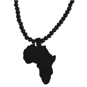 Wooden Africa Beaded Necklace