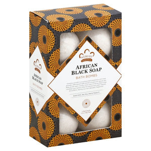 Nubian Heritage: African Black Soap Bath Bombs (Set of 6)