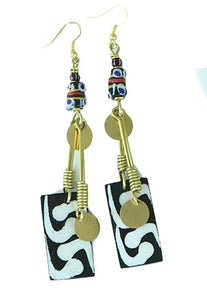 Chic Bone & Brass Earrings