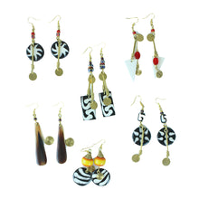 Load image into Gallery viewer, Chic Bone & Brass Earrings