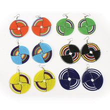 Load image into Gallery viewer, Circle Beaded Maasai Earrings