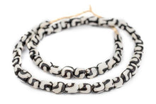 Load image into Gallery viewer, Kenyan 'Small Wave' Batik Bone Necklace