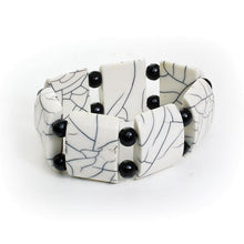 Load image into Gallery viewer, White Bone Elastic Bracelet