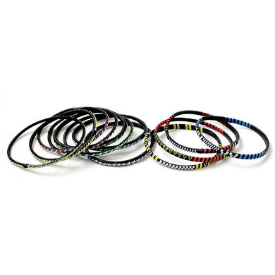 Mini Tuareg Recycled Plastic Bracelet Sets - Assorted
