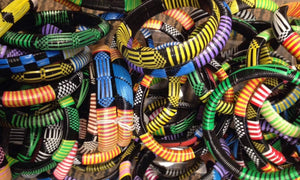 Tuareg Recycled Plastic Bracelet Sets - Adult