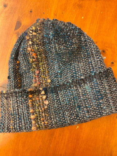 Blue Alpaca Hat #1