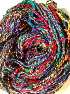 Handspun silk yarn