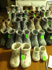 Polystyrene Shoe Lasts for Handcrafted Felted Slippers