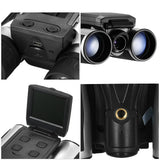 eyeseeall 12x32 digital camera binoculars four perspectives