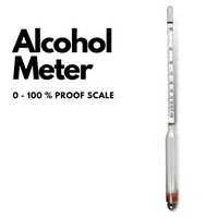 Alcoholmeter 0-100% & Proof scale