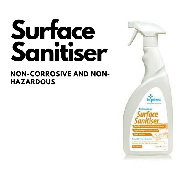 Antimicrobial surface sanitiser