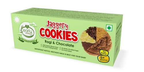 Early Foods - Organic Ragi & Chocolate Jaggery Cookies (8 Months+) - 150 gm