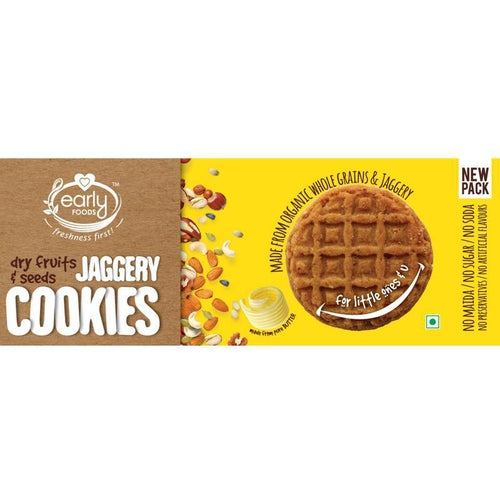 Early Foods - Organic Dry Fruits & Seeds Jaggery Cookies (8 Months+) - 150 gm