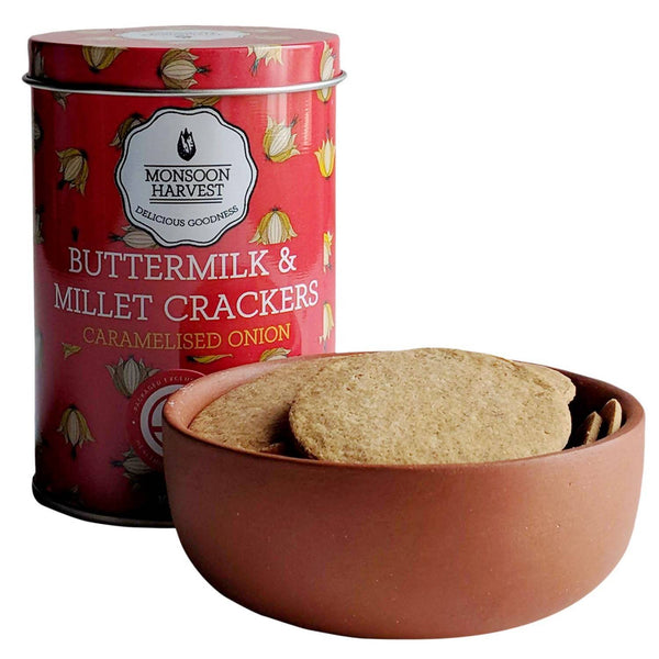 Buttermilk & Millet Crackers-Caramelized Onion, Pack of 2