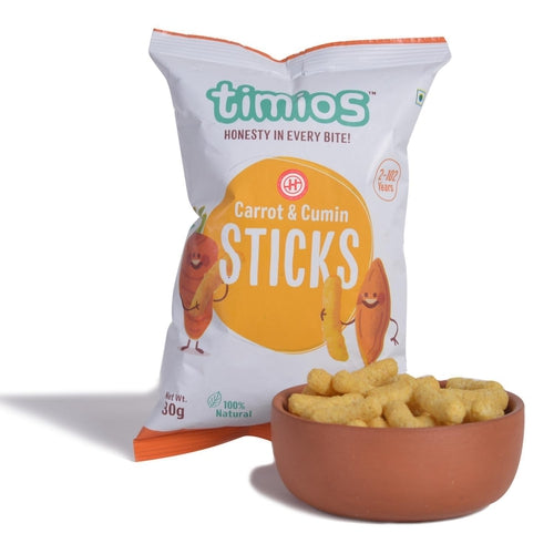 Timios Carrot & Cumin Sticks (2 Years+), Pack of 6