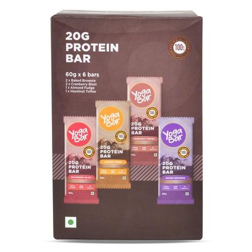 20G Protein Bar, Pack of 6 - 360 gm